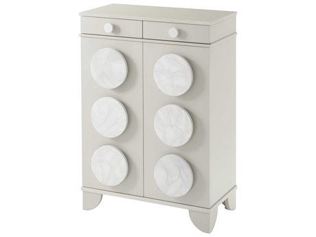 Theodore Alexander Senora Grey / Faux Carrara Lacquered Disc Accent Chest TALAC61002