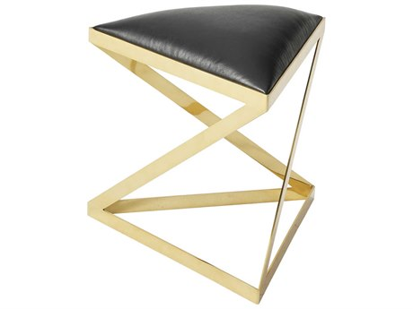 Theodore Alexander Polished Warm Brass Accent Stool TAL80552AIA