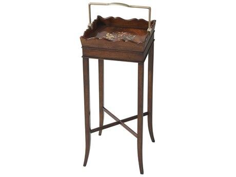 Theodore Alexander Flame Figured Veneer / Mahogany 11'' Wide Square End Table