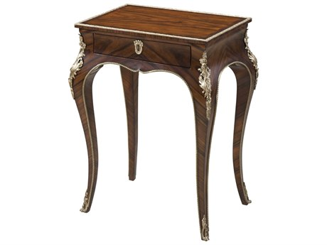 Theodore Alexander Morado Veneer / Brass 20'' Wide Rectangular End Table