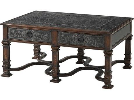 Theodore Alexander Acacia / Brass 42'' Wide Rectangular Coffee Table