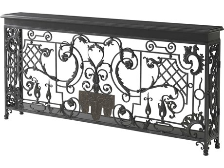 Theodore Alexander Brass / Iron 77'' Wide Rectangular Console Table