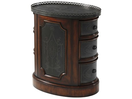 Theodore Alexander Acacia / Brass 26'' Wide Oval End Table
