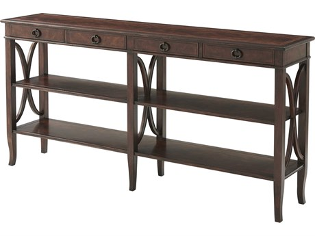 Theodore Alexander Cerejeira Veneer / Mahogany 72'' Wide Rectangular Console Table
