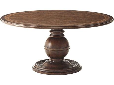 Theodore Alexander Cerejeira Veneer / Mahogany 63'' Wide Round Dining Table