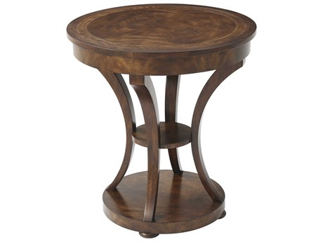 Theodore Alexander Cerejeira Veneer / Mahogany 25'' Wide Round End Table