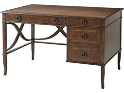 Cerejeira Veneer / Mahogany Leather Secretary Desk