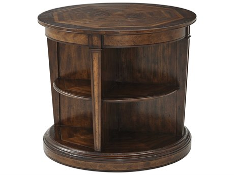 Theodore Alexander Mahogany / Parawood Acacia 32'' Wide Round End Table