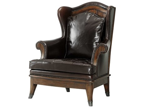 Theodore Alexander Mahogany Accent Chair