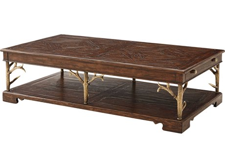 Theodore Alexander Mahogany / Composite 68'' Wide Rectangular Coffee Table