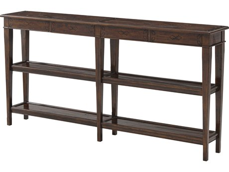 Theodore Alexander Mahogany 72'' Wide Rectangular Console Table