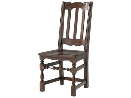 Theodore Alexander Mahogany Side Dining Chair