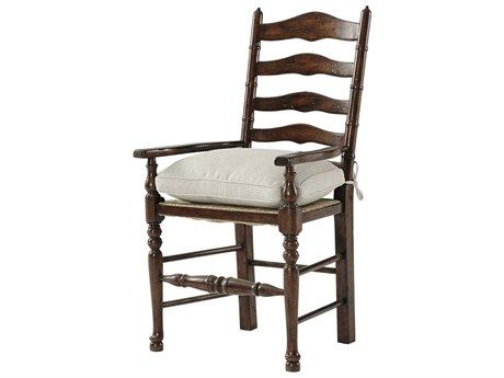 Theodore Alexander Mahogany Arm Dining Chair