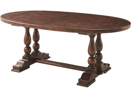Theodore Alexander Mahogany 78'' Wide Oval Dining Table