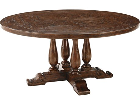 Theodore Alexander Mahogany 64'' Wide Round Dining Table