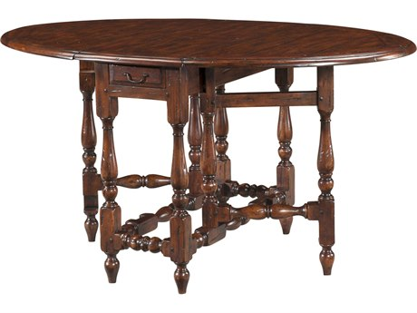 Theodore Alexander Mahogany 16'' Wide Oval Dining Table
