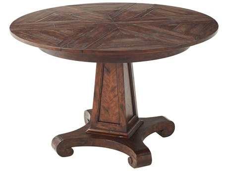 Theodore Alexander Mahogany 38'' - 47'' Wide Round Dining Table