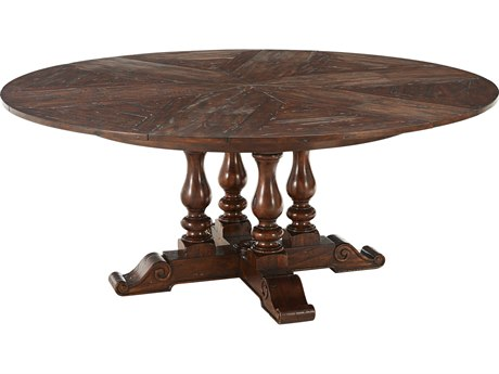 Theodore Alexander Mahogany 54'' - 72'' Wide Round Dining Table