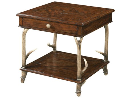Theodore Alexander Mahogany / Composite 26'' Wide Square End Table