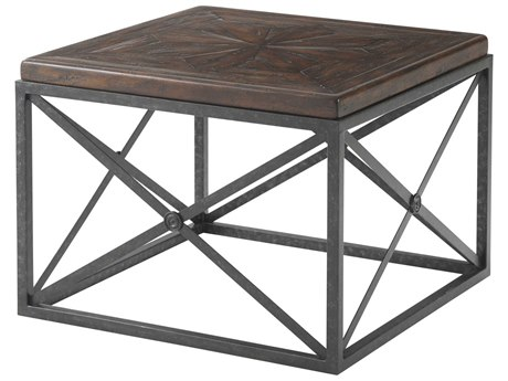 Theodore Alexander Mahogany / Iron 28'' Wide Square End Table