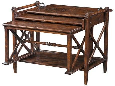 Theodore Alexander Mahogany 28'' Wide Rectangular Nesting Table