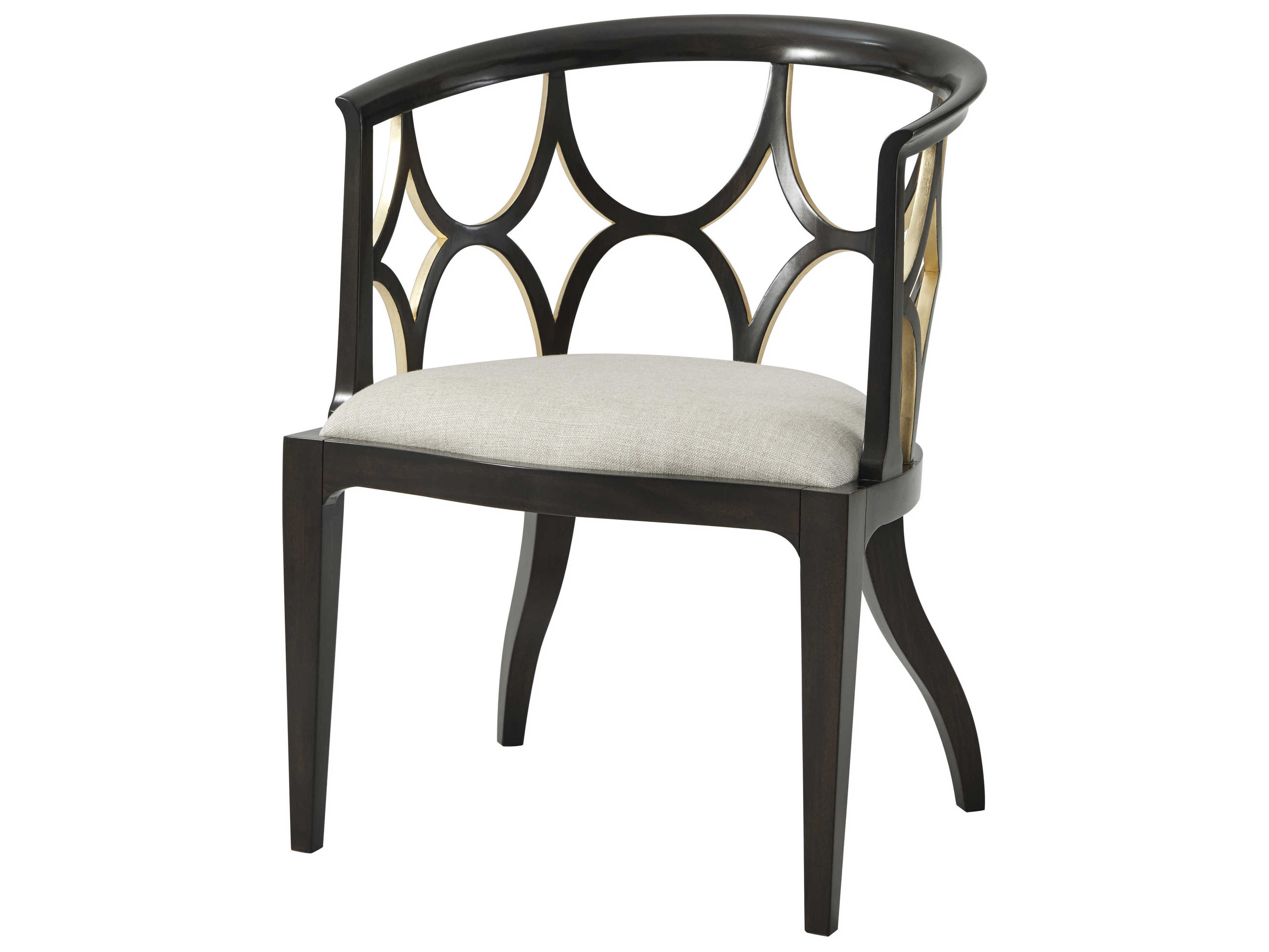 Astounding Theodore Alexander Ebonised Gilt Accent Chair Short Links Chair Design For Home Short Linksinfo