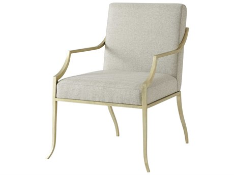 Theodore Alexander Hand-Leafed Soft Gold Accent Chair TAL42120101AKJ