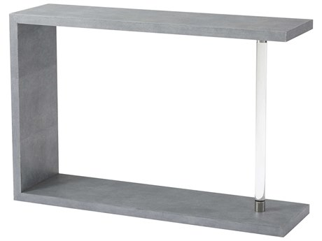 Theodore Alexander Moon Blue Faux Shagreen / Glass 48'' Wide Rectangular Console Table TAL5334005