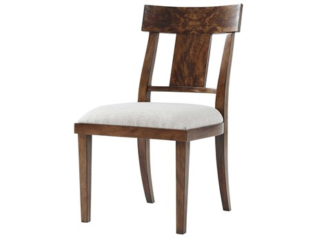 Theodore Alexander Flame Figured Veneer / Mahogany Side Dining Chair