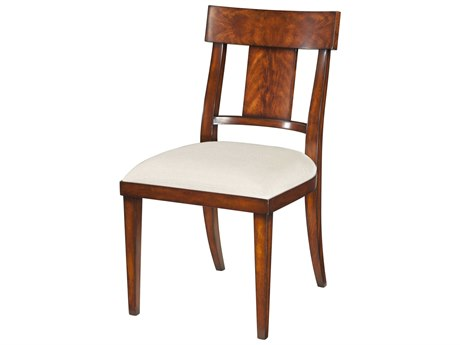 Theodore Alexander Flame Mahogany Veneer / Side Dining Chair