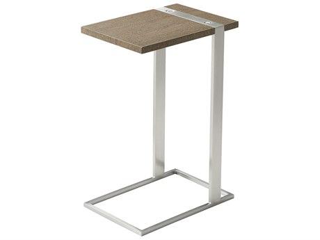 Theodore Alexander Wenge Veneer / Stainless Steel 10'' Wide Rectangular End Table