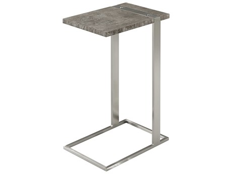 Theodore Alexander Cloudy Bay / Stainless Steel 10'' Wide Square End Table