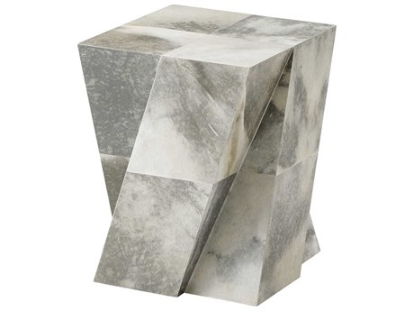 Theodore Alexander Graphite Parchment 14'' Wide Square End Table