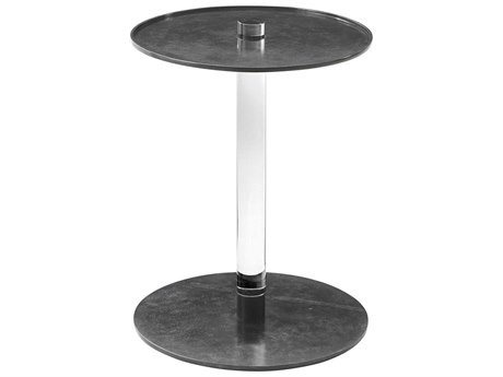 Theodore Alexander Brass / Acrylic 16'' Wide Round Pedestal Table TAL5021327