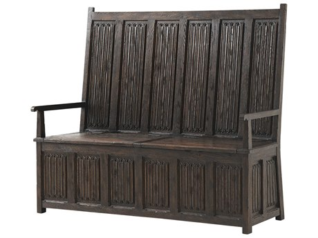 Theodore Alexander Burnt Oak Accent Bench
