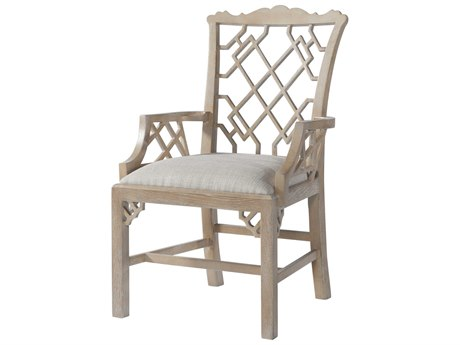 Theodore Alexander Oak Arm Dining Chair