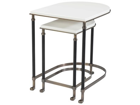 Theodore Alexander Brass / Iron 20'' Wide Oval Nesting Table