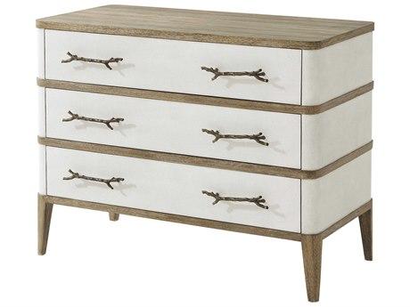 Theodore Alexander Figured Ofram Veneer / Embossed Leather Oak Dresser TAL6005565EHC