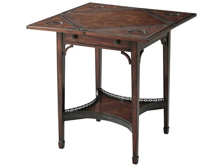 Theodore Alexander Acacia / Leather Game Table