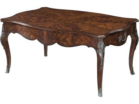 Theodore Alexander Flame Figured Veneer / Mahogany 44'' Wide Rectangular Coffee Table