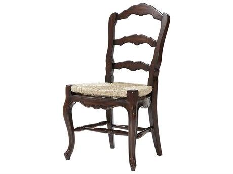 Theodore Alexander Mahogany / Rush Side Dining Chair
