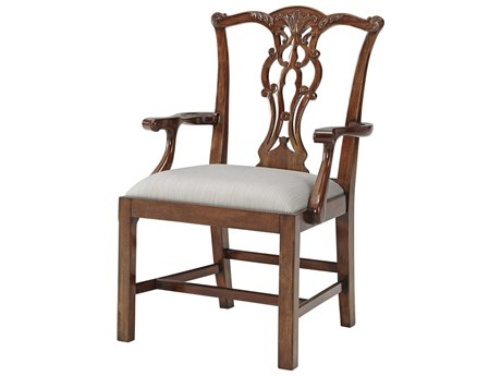 Theodore Alexander Mahogany Arm Dining Chair TAL41008491AEL