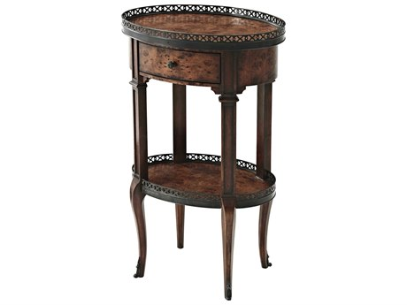 Theodore Alexander Acacia 17'' Wide Oval End Table