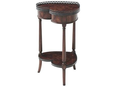 Theodore Alexander Flame Figured Veneer / Mahogany 18'' Wide End Table