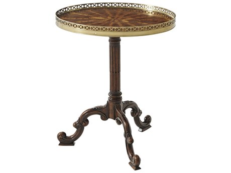 Theodore Alexander Mahogany 19'' Wide Oval Pedestal Table