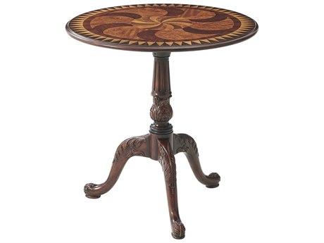 Theodore Alexander Mahogany / Morado Veneer 27'' Wide Round Pedestal Table