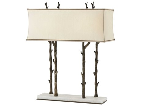 Theodore Alexander Brass / White Marble Table Lamp