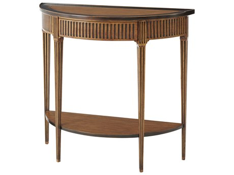 Theodore Alexander Parawood 38'' Wide Demilune Console Table TAL5300111