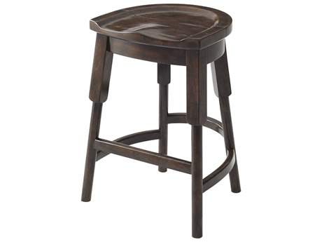 Theodore Alexander Rustic Byron Side Counter Height Stool TAL4400237
