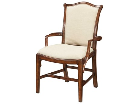 Theodore Alexander Mahogany Arm Dining Chair